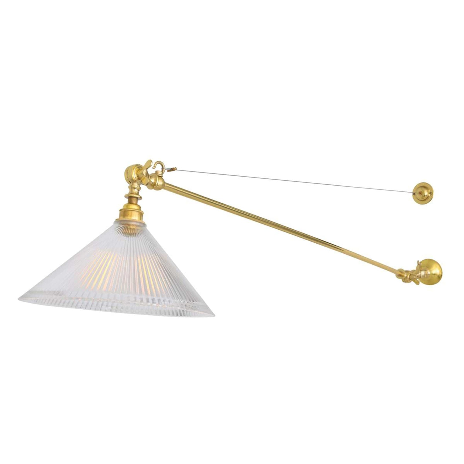 Mullan Lighting Lighting Nyx Adjustable Coolie Glass Wall Light