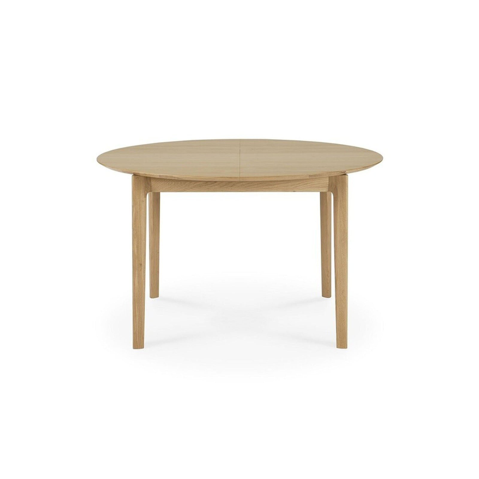 Ethnicraft Furniture Oak Bok Round Extendable Dining Table