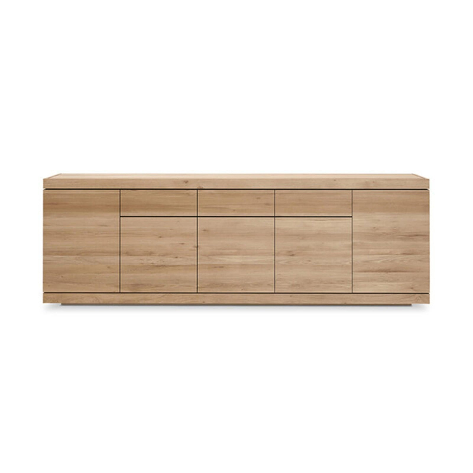 Ethnicraft Furniture 5 Doors / 3 Drawers Oak Burger Sideboard