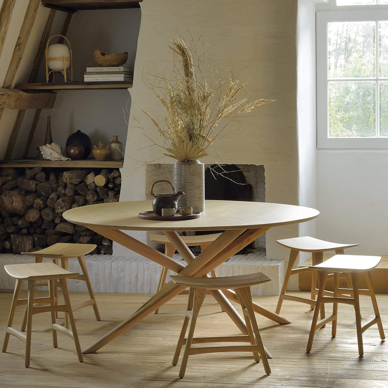Ethnicraft Furniture Oak Mikado Round Dining Table