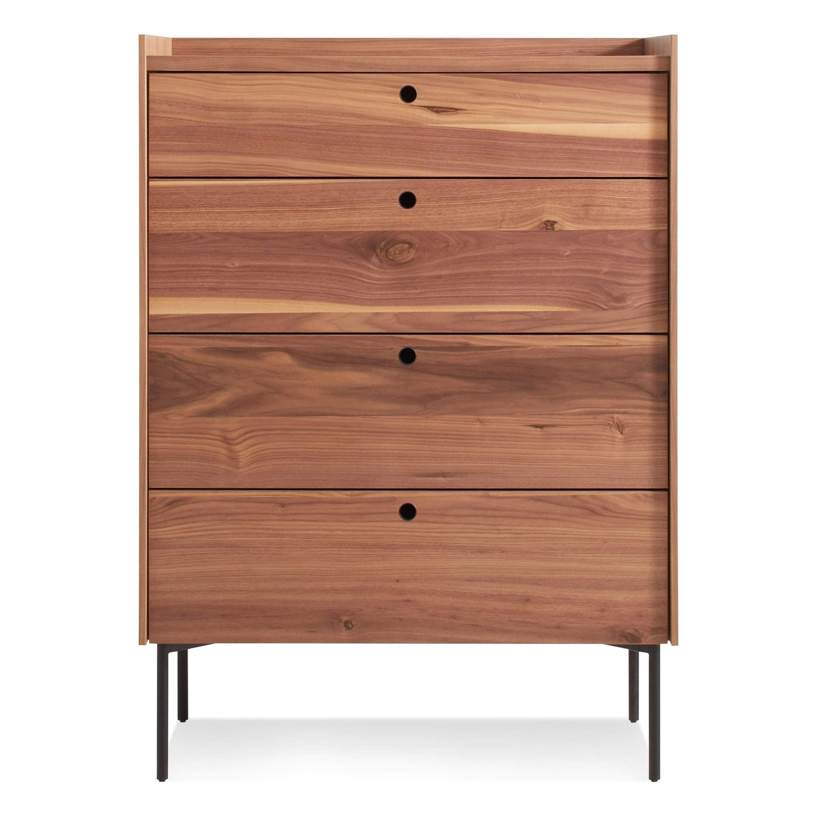 Blu Dot Furniture 4 Drawer / Rustic Walnut Peek Dresser
