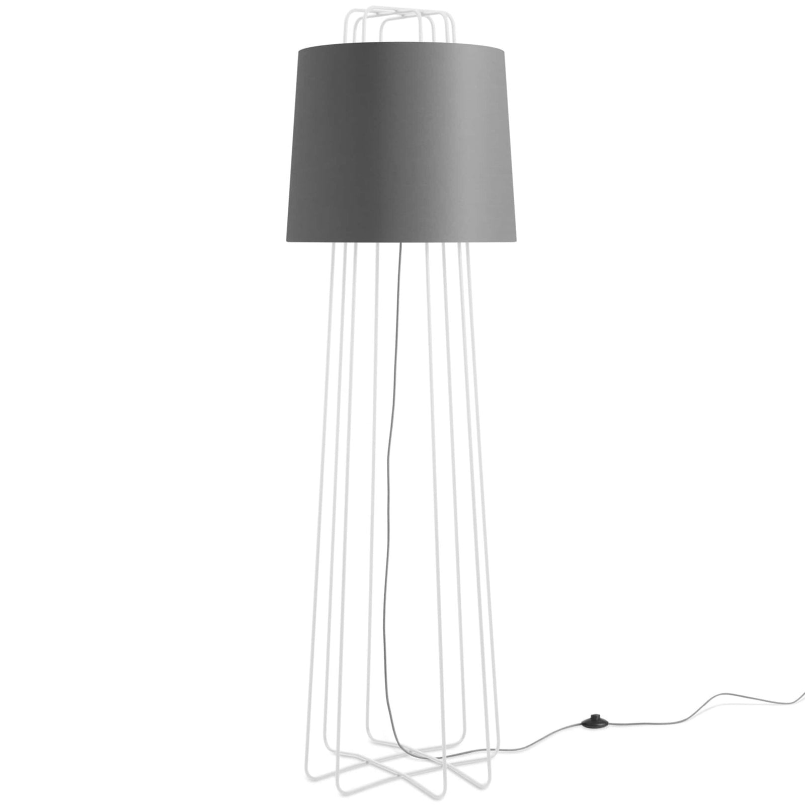 Blu Dot Lighting Grey/White Perimeter Floor Lamp