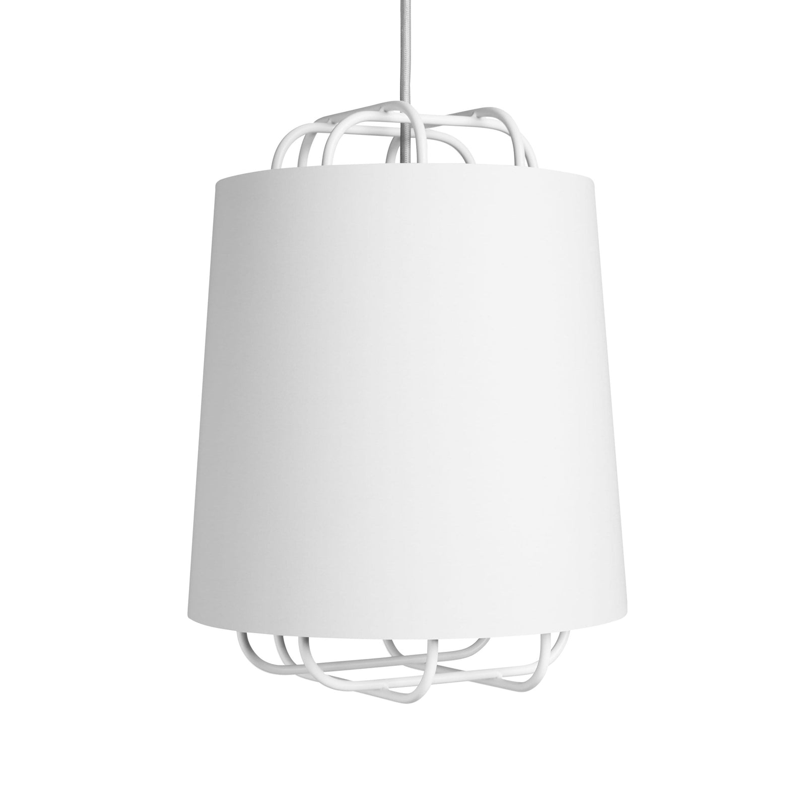 Blu Dot Lighting White Perimeter Small Pendant Light