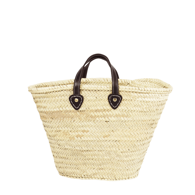 SOCCO WHOLESALE Purse Brown Perth French Straw Basket