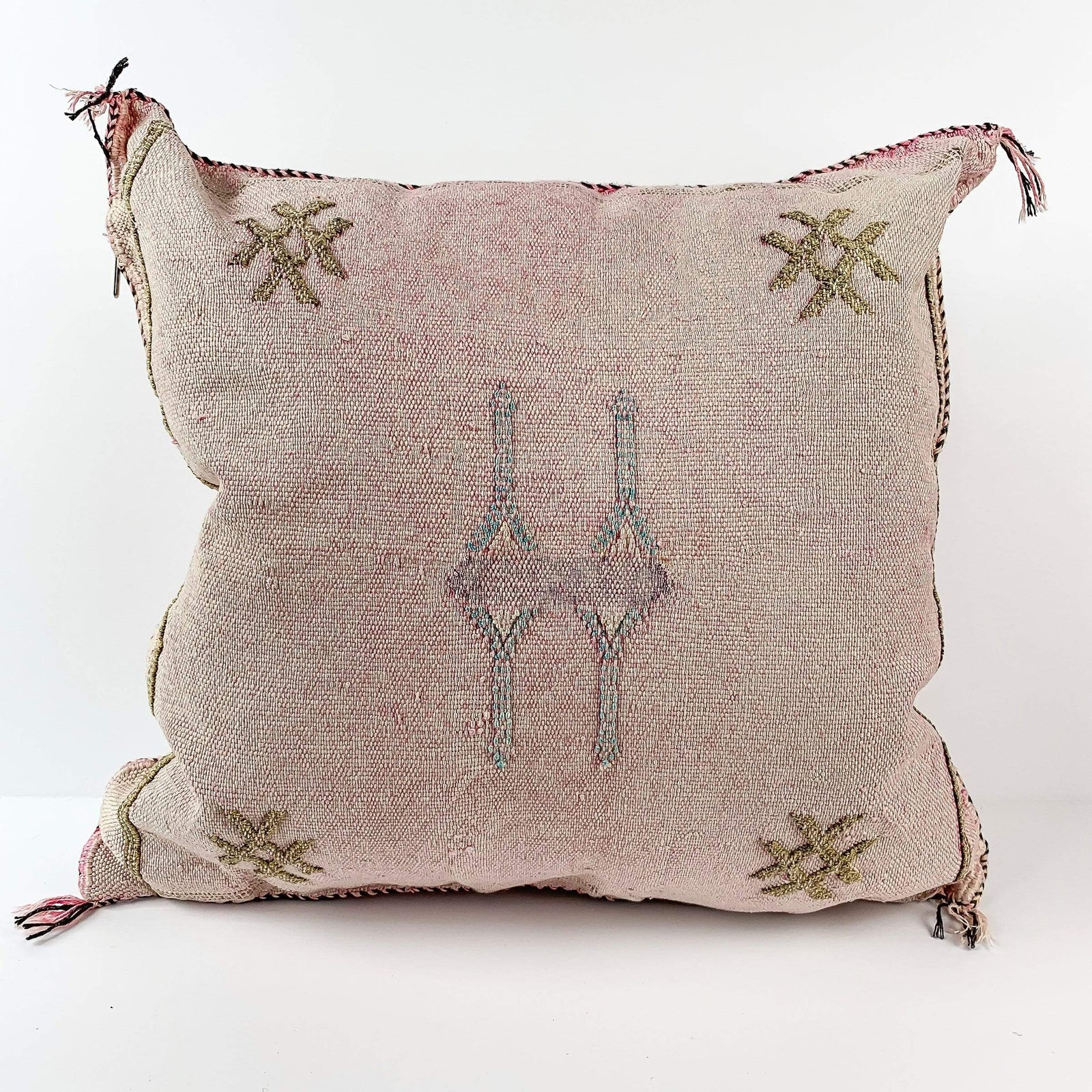 Eclectic Collective Pillow Pink Sabra Silk Pillow