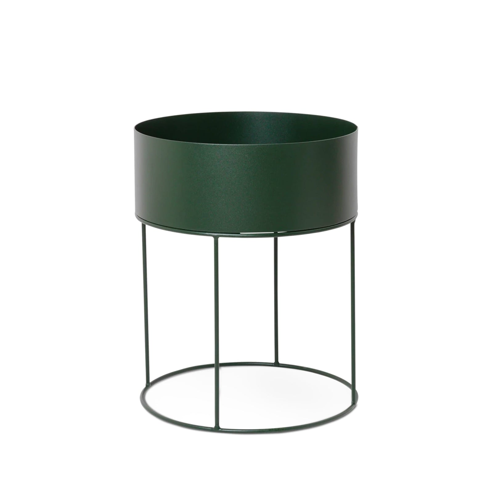 Ferm Living Pottery Dark Green Plant Box - Round