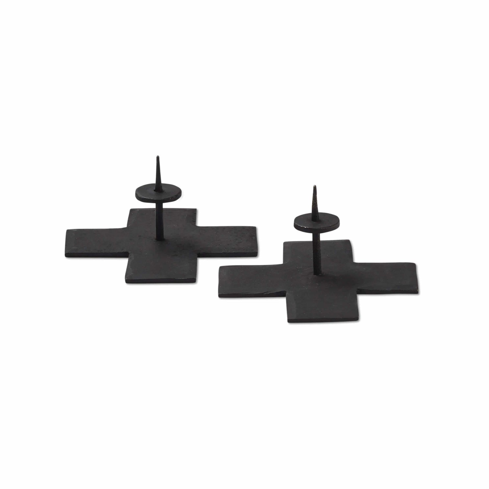 Magenta Rae Dunn Icon Taper Candle Holders Black -  Set of 2