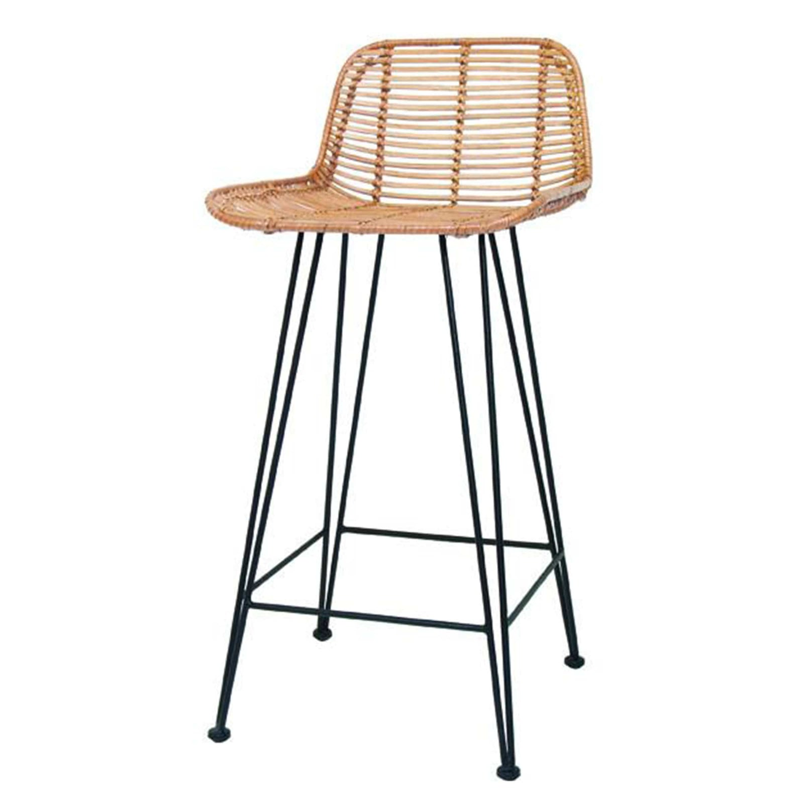 HK Living Furniture Rattan Counter Stool - Natural
