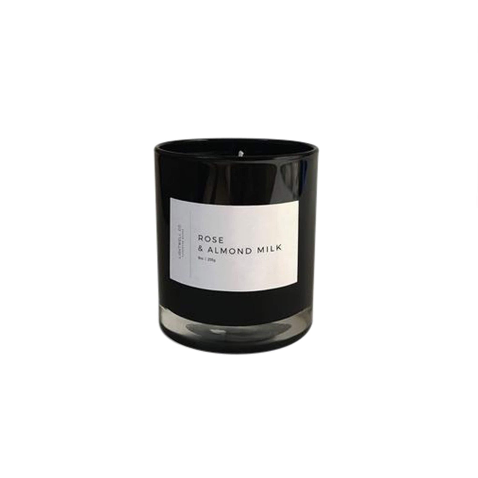 Lightwell Co. Candle Rose & Almond Milk Black Tumbler Candle