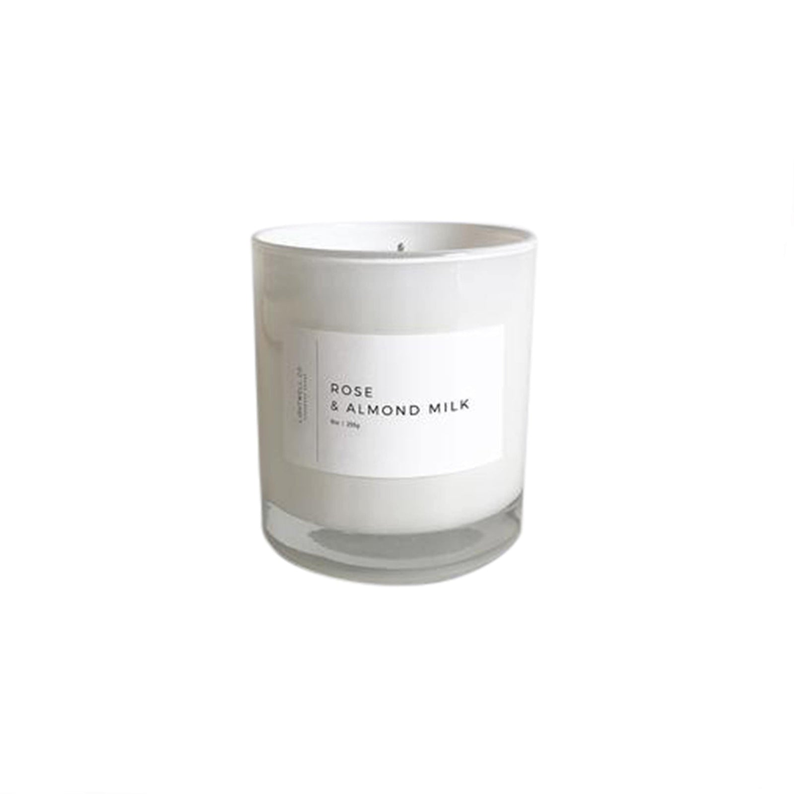 Lightwell Co. Candle Rose & Almond Milk White Tumbler Candle