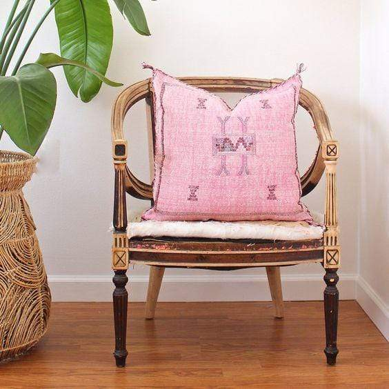 House of Cindy Pillow Sabra Vintage Pink Pillow