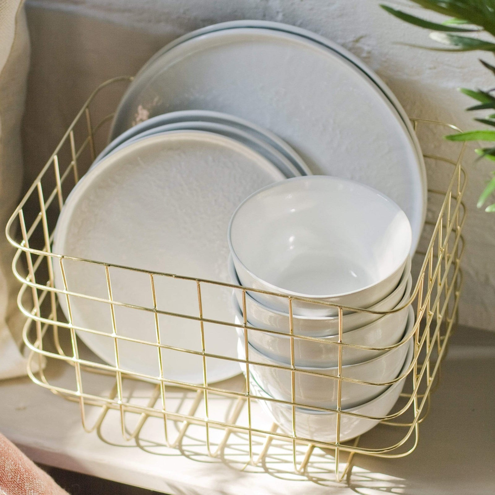 House Doctor Basket Shiny Gold Basket - Extra Small