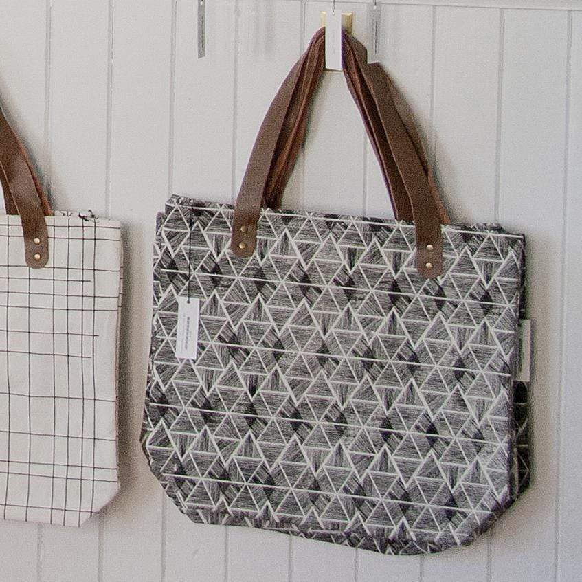 House Doctor Tote Shopping Bag - Geometric Print No. 2