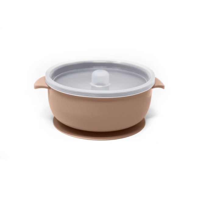 The Dearest Grey Child Camel Silicone Suction Bowl