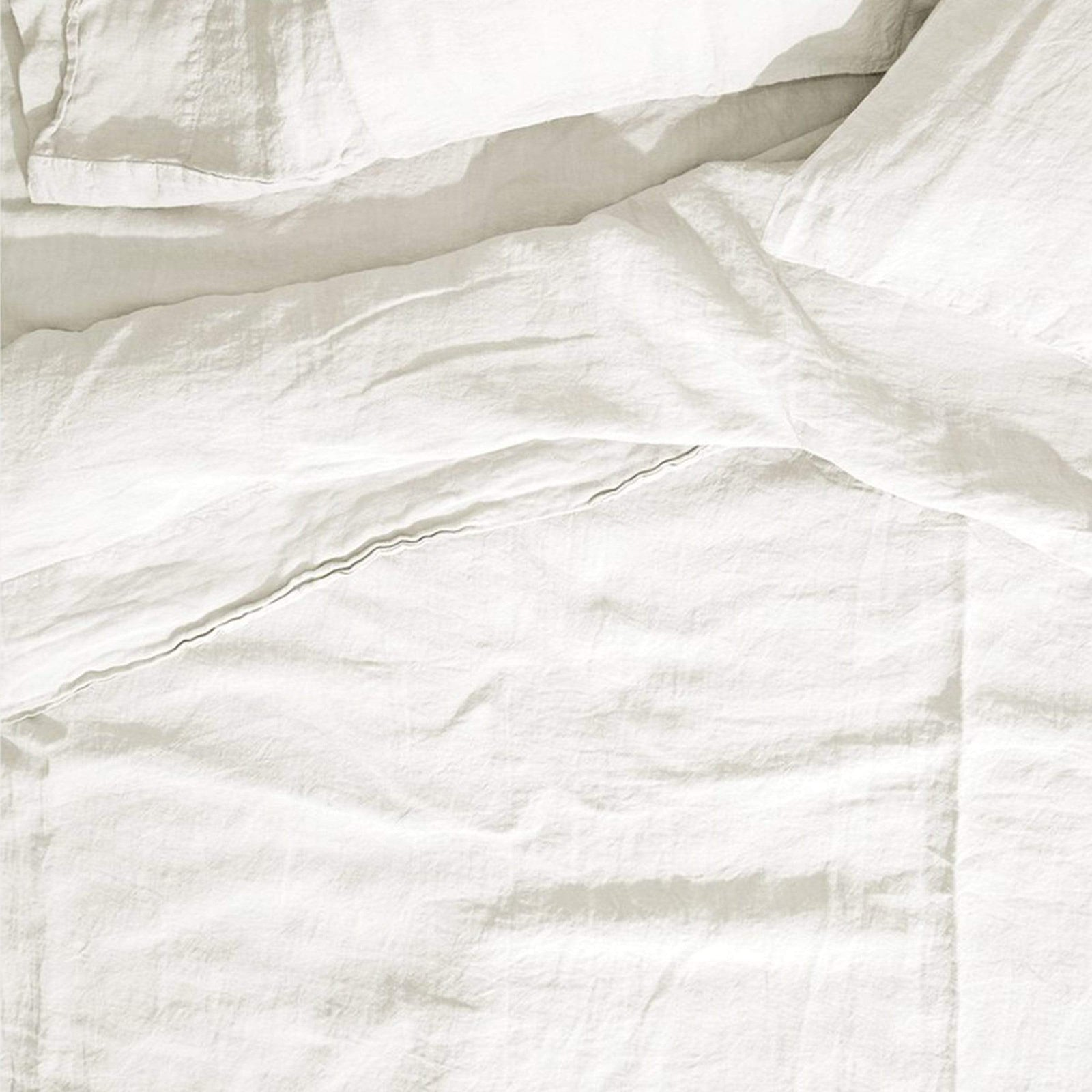 Hawkins New York Bedding Queen / White Simple Linen Fitted Sheet