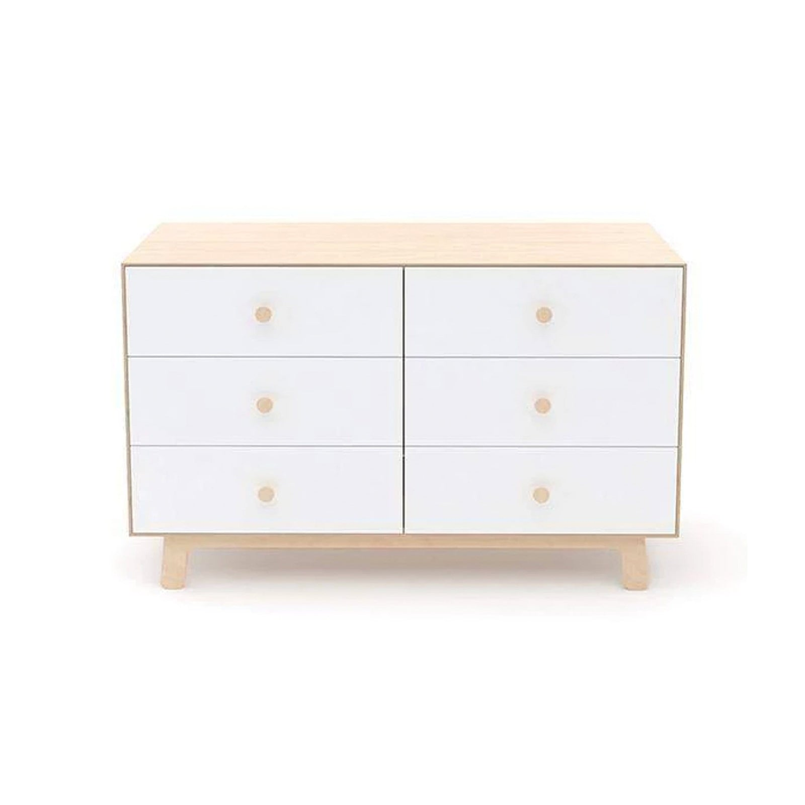 Oeuf Furniture White/Birch Sparrow 6 Drawer Dresser