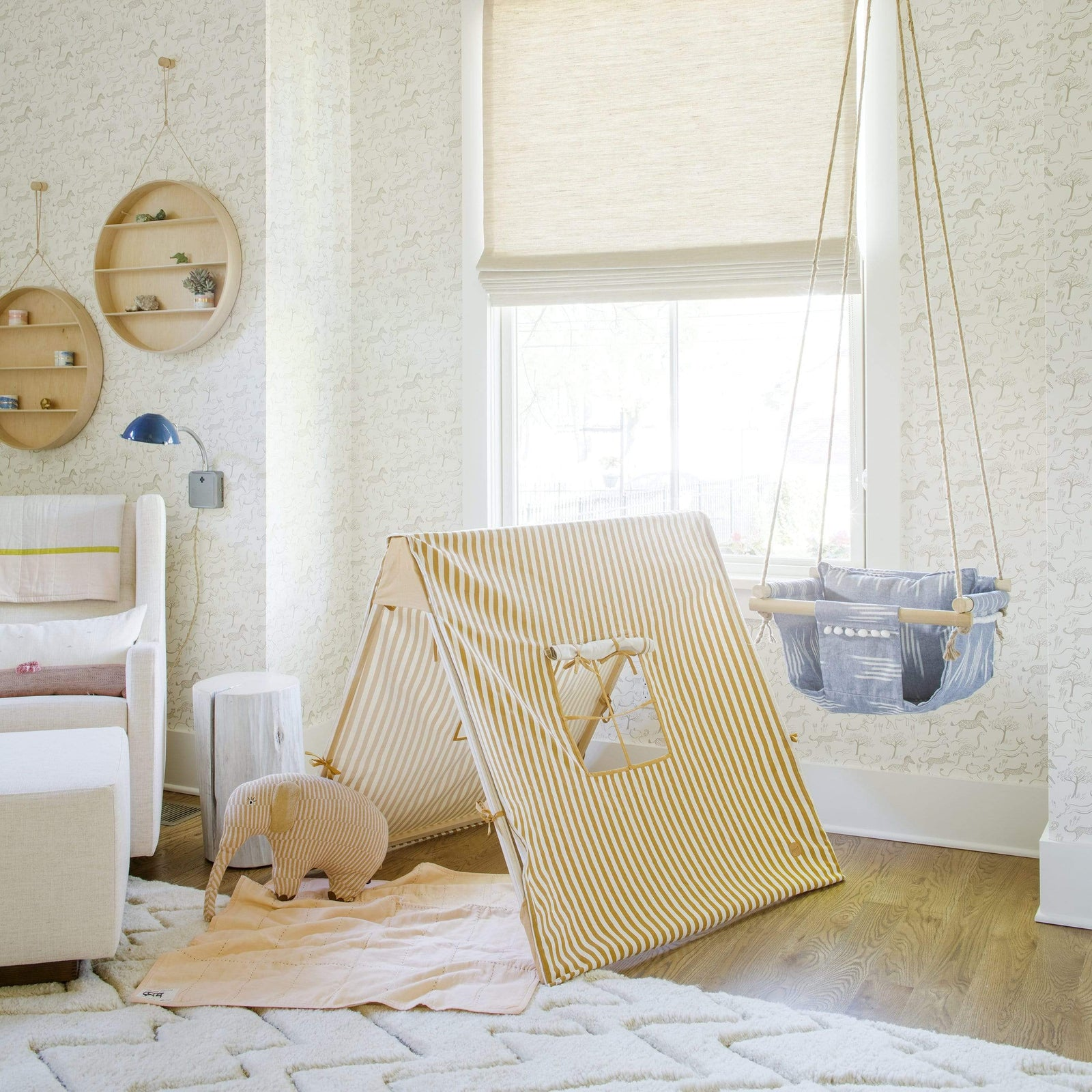 Ferm Living Child Mustard Thin Striped Tent