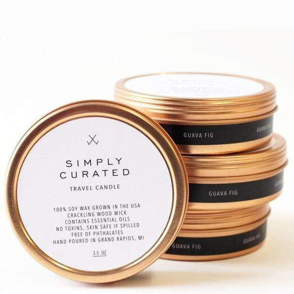 Simply Curated Candle Travel Candle - Cucumber & Sweetgrass