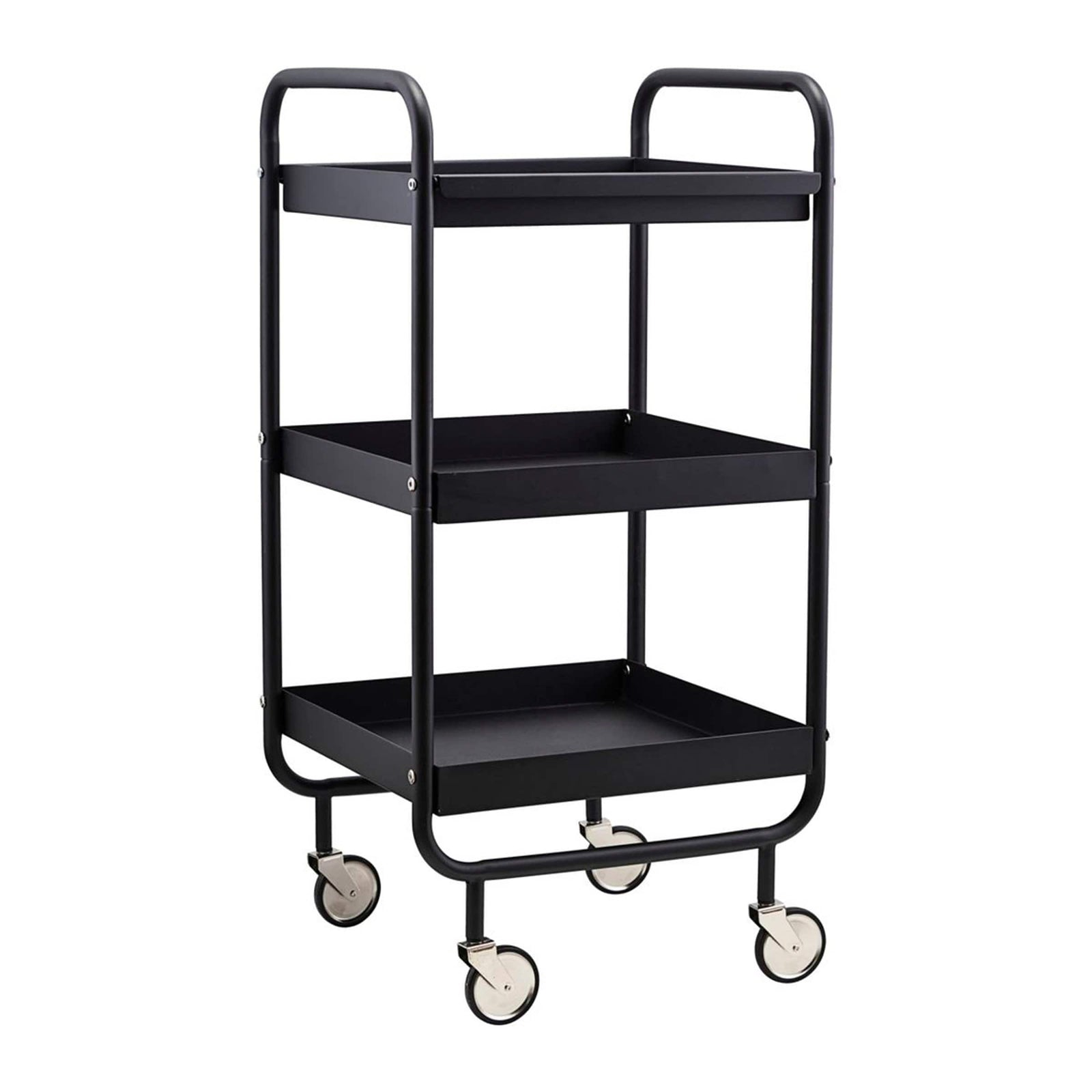 House Doctor Furniture Trolley, Roll, Black