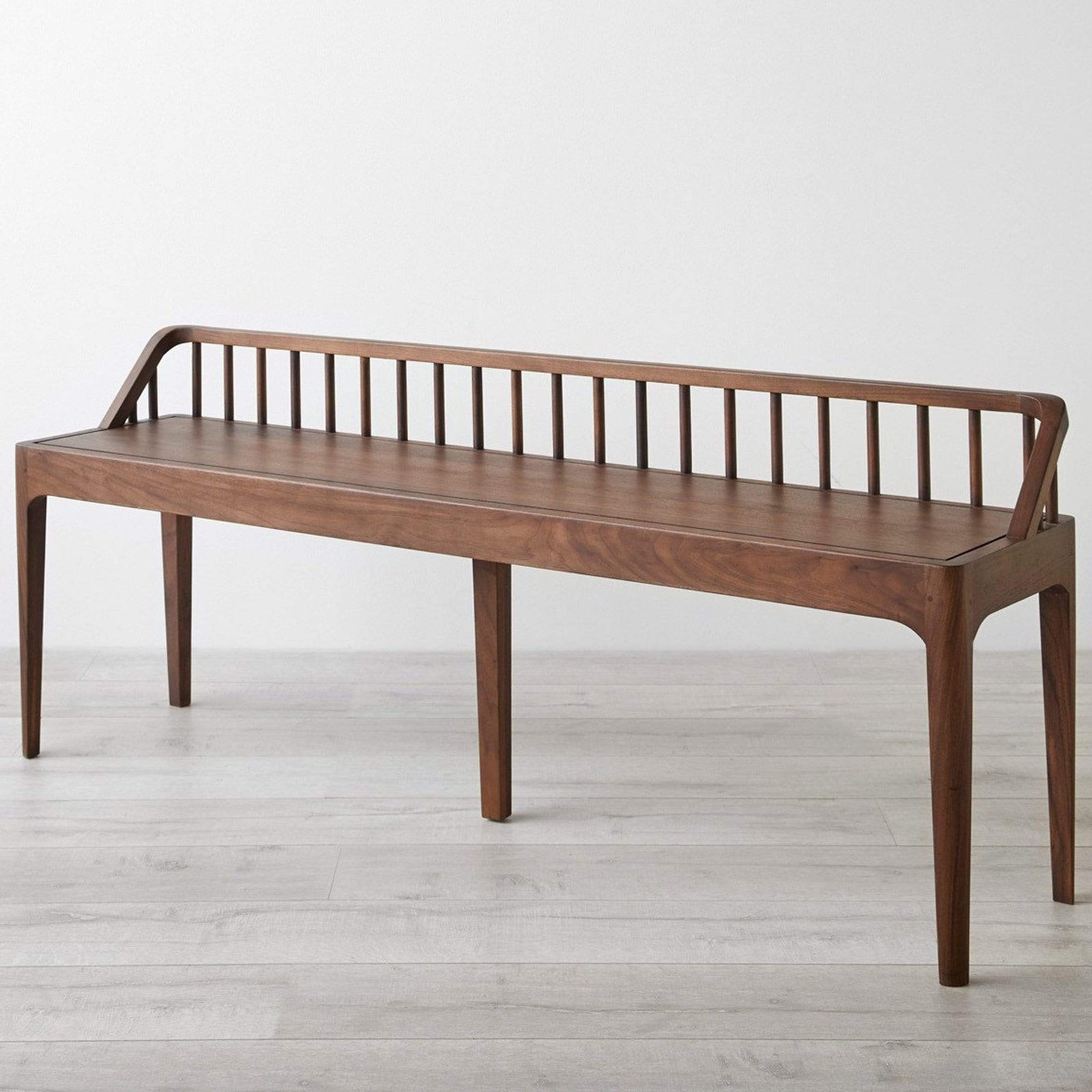 Ethnicraft Furniture Walnut Spindle Bench
