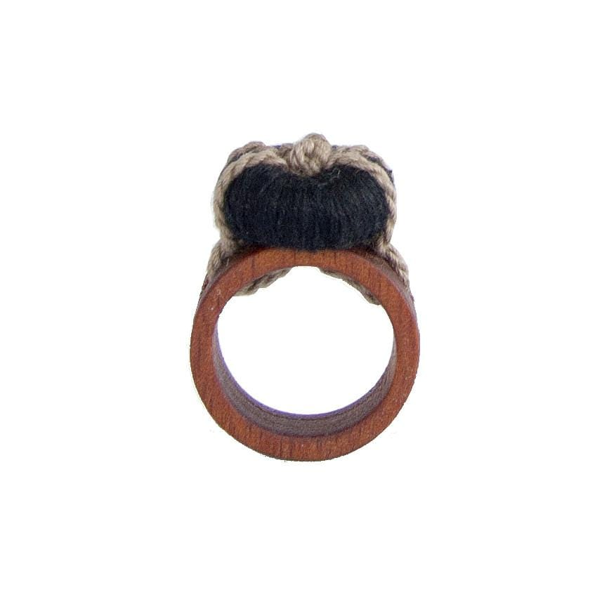 Morralito Jewelry Wood Ring - Black, Small