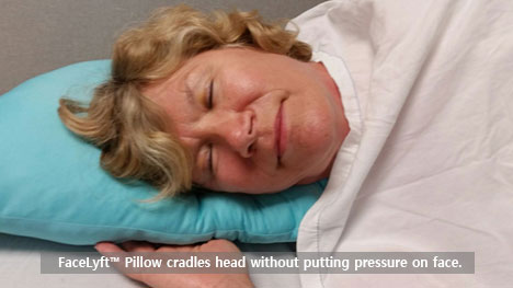 The Facelyft pillow reduces facial wrinkles