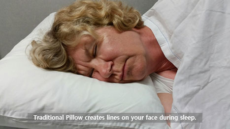 Traditional pillows puts pressure on the face