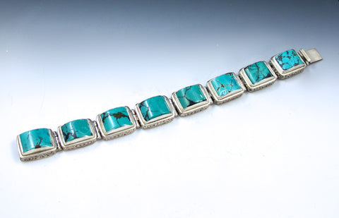 Rectangle turquoise bracelet One Of a Kind