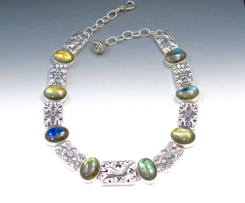 Flora Collar with Labradorite