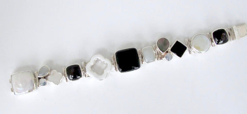Onyx and Mother of Pearl Bracelet