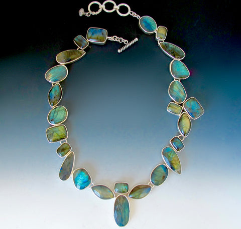 One of a kind labradorite necklace