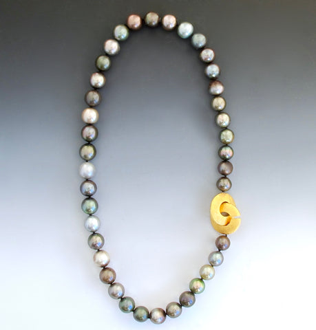 Tahitian Pearls with Gold Gravity Clasp