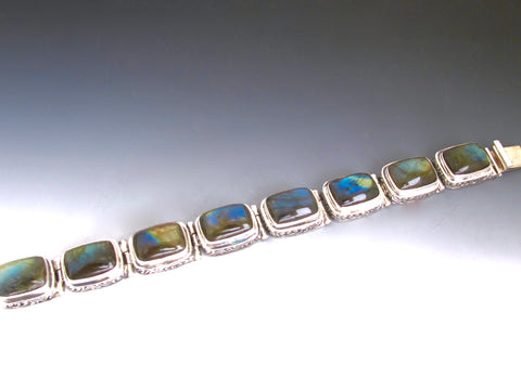 Astrid Labradorite with decorated bezel