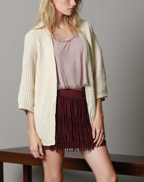BOXY CARDIGAN WITH POCKETS