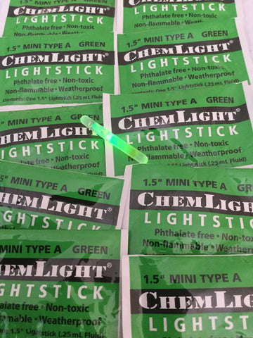"1.5"" Mini Type A Green Chemlight"