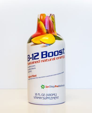 Liquid Vitamin B12 in Tropical Blast Flavor; 1st Step ProWellness