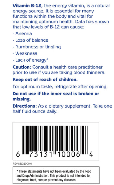 Vitamin B12 Directions; 1st Step ProWellness