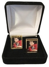 Muhammad Ali Cuff Links- Gold Border