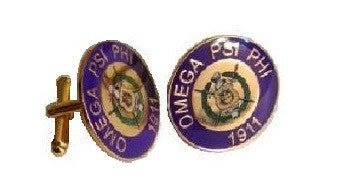 OMEGA CUFFLINKS (PURPLE)