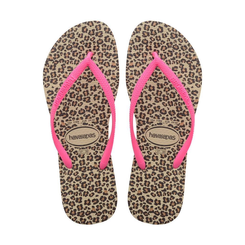 WOMEN'S SLIM ANIMALS FLIP FLOP SANDALS