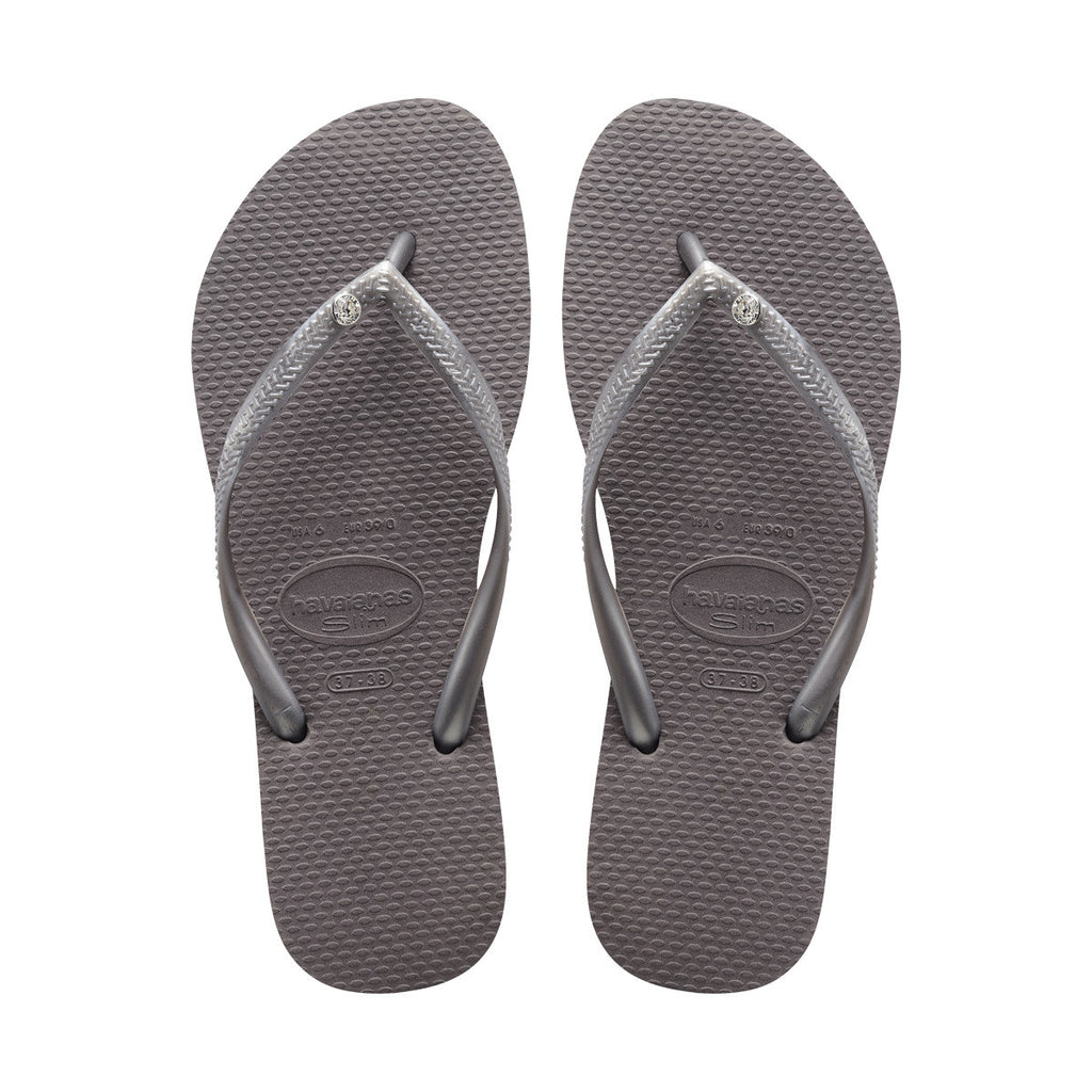 WOMEN'S SLIM CRYSTAL FLIP FLOP SANDALS