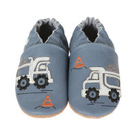BOY'S LITTLE DUMP TRUCK BABY SHOES