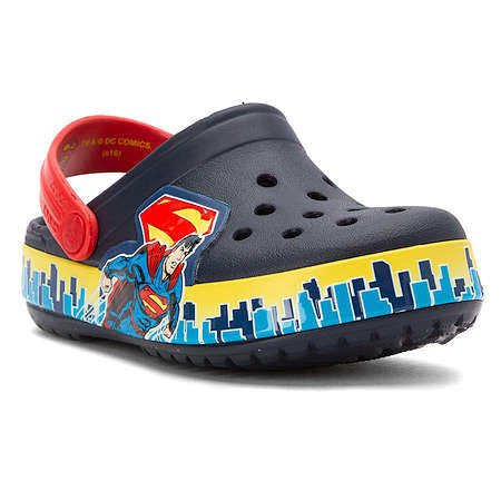 BOY'S CROCBAND SUPERMAN CLOG