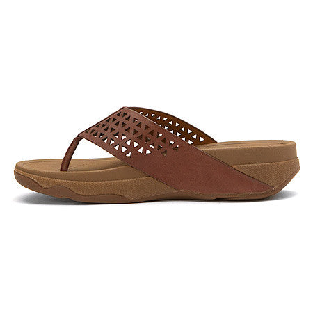 WOMEN'S LEATHER LATTICE SANDAL
