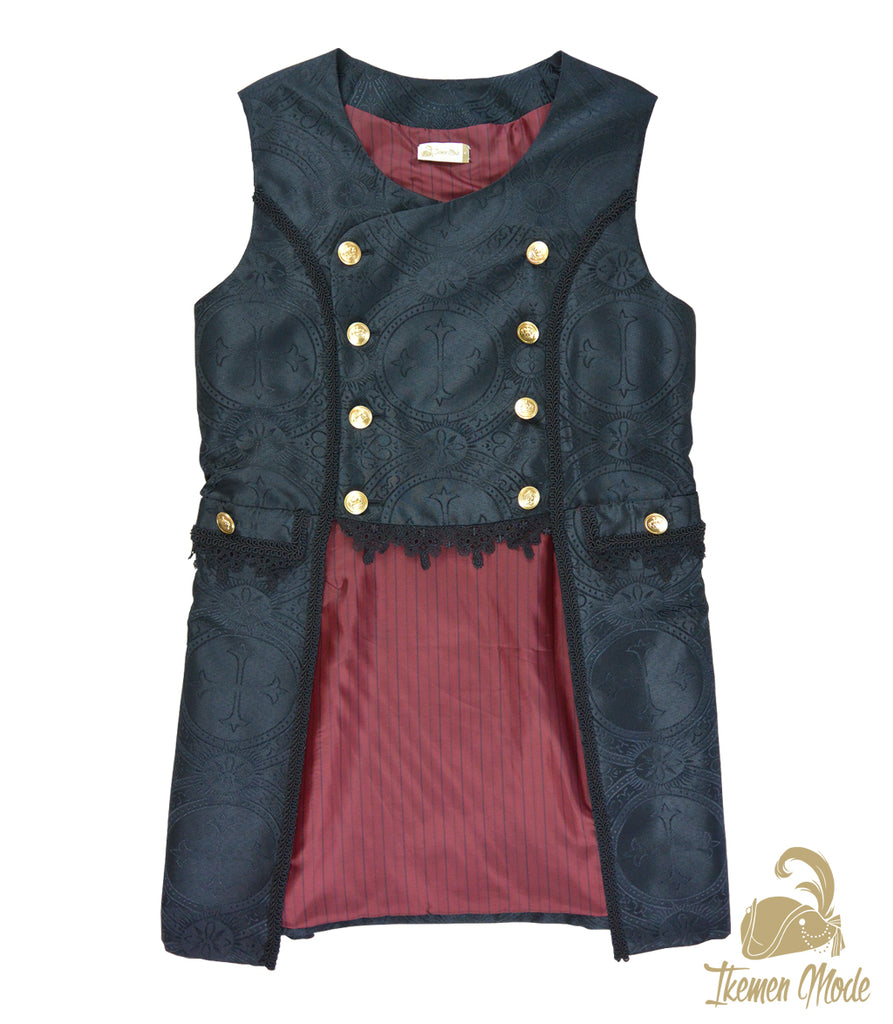 King's Side Bishop Gilet - Black