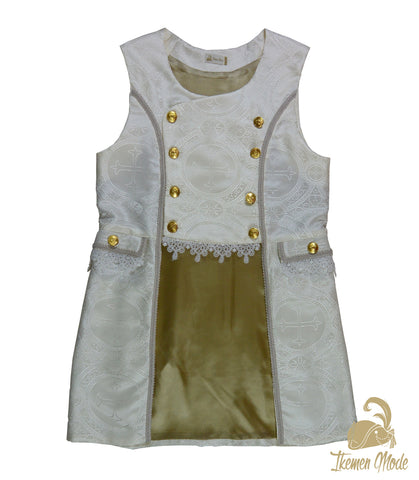 King's Side Bishop Gilet - Ivory