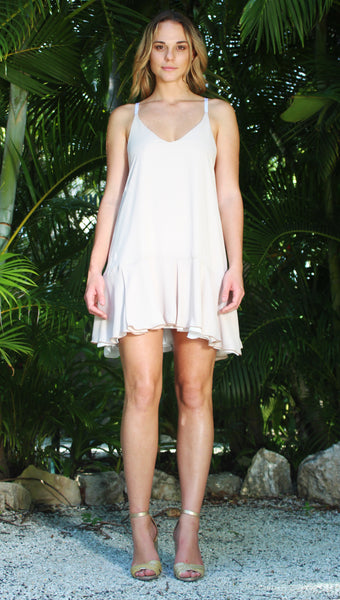 Tulip Dress - White/ Bone