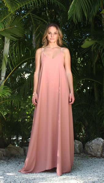 Long Dress - Dusty Rose/Ballet Pink