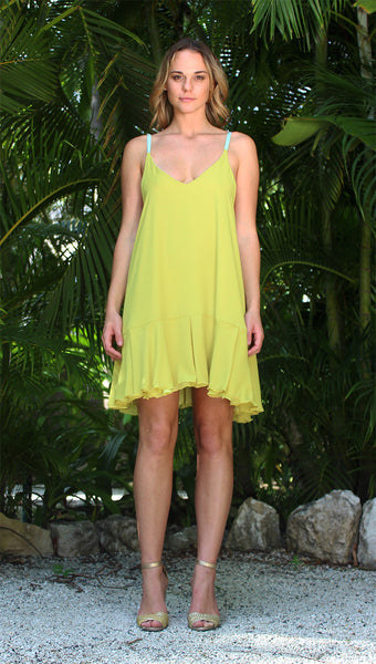 Tulip Dress - Pale Yellow/Energy Yellow
