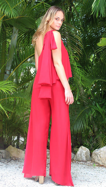 Wide Leg Pant with Box Pleat Detail- Available in all colors